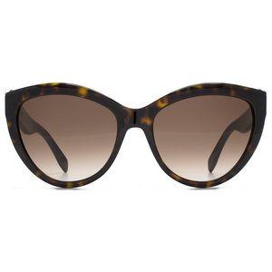 Alexander McQueen Cateye Sunglasses Tortoise Brown